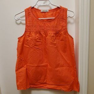 Boden orange embroidered Cotton tank top small